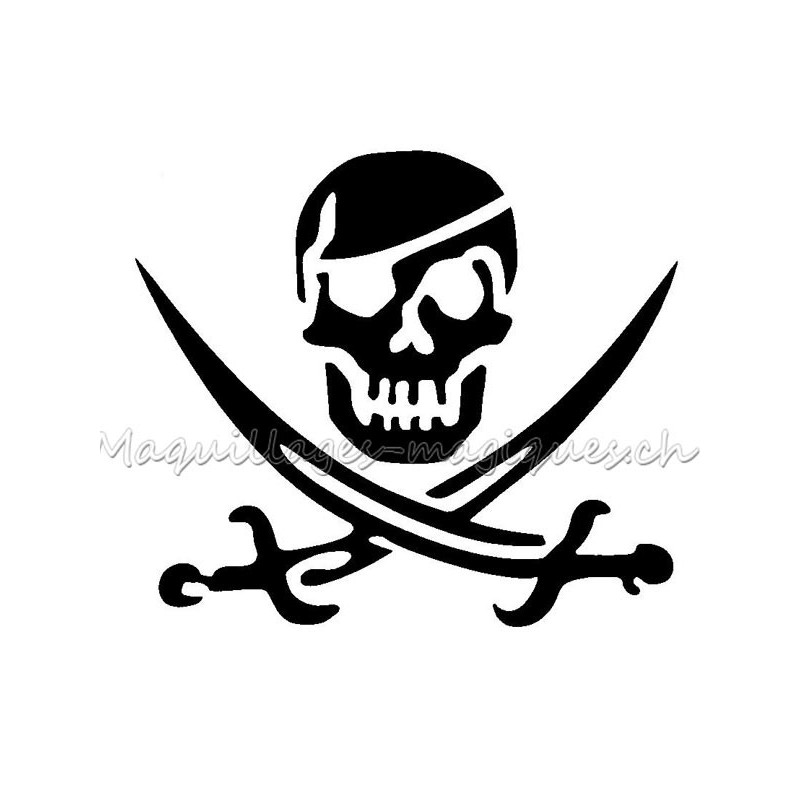 T te de mort pirate 75000 maquillages magiques - Tete de pirate dessin ...
