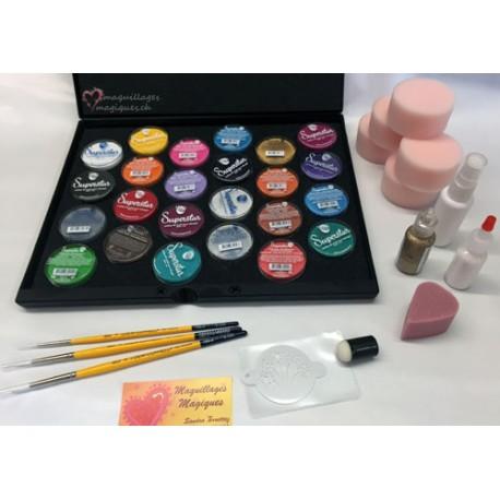 superstar kit professionnel maquillages magiques. Black Bedroom Furniture Sets. Home Design Ideas