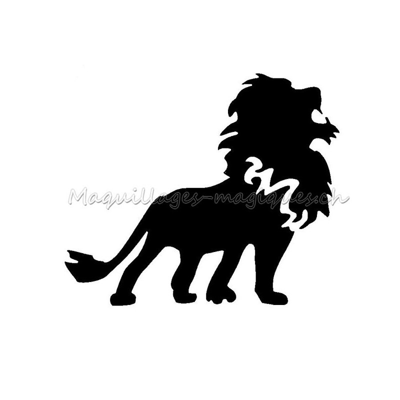 Lion Pochoir Tatouage Temporaire Signe Du Zodiaque Ybody 94600