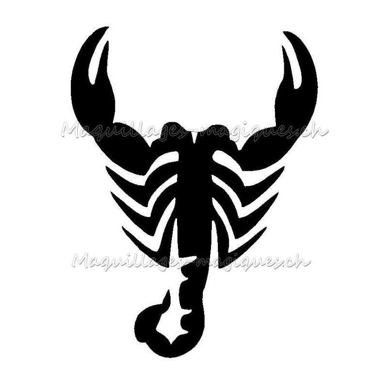 Scorpion Signe Zodiaque Pochoir Tatouage Temporaire Ybody 94900