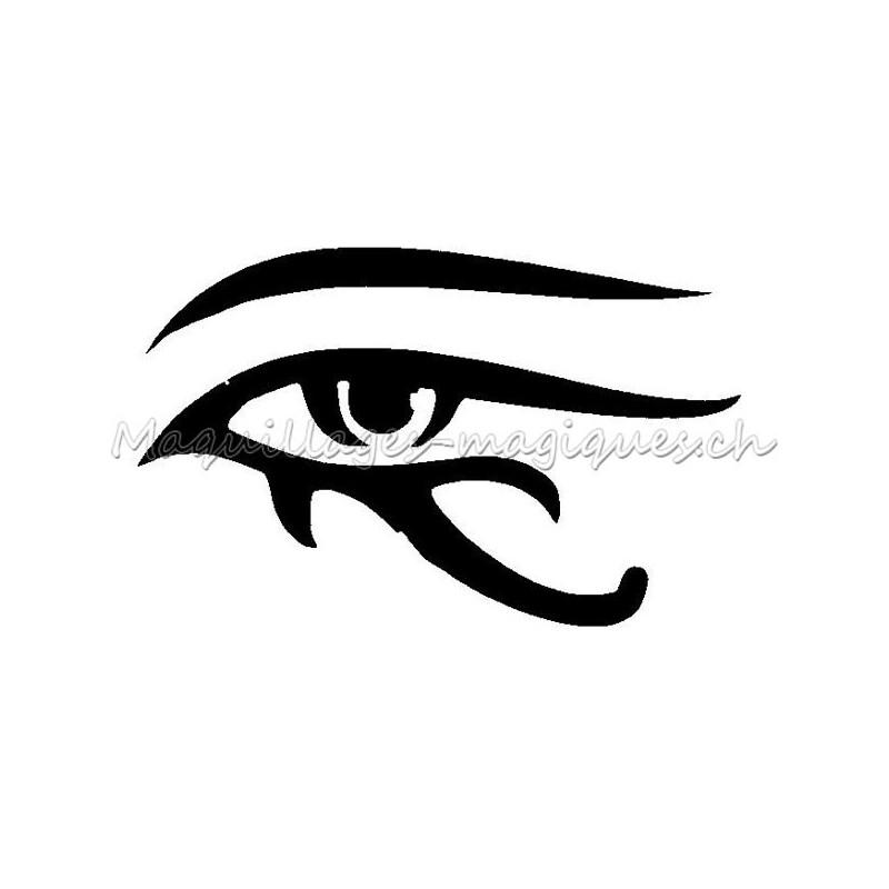Tatouage temporaire egypte oeil oudjat 51400 maquillages - Tatouage oeil d horus ...