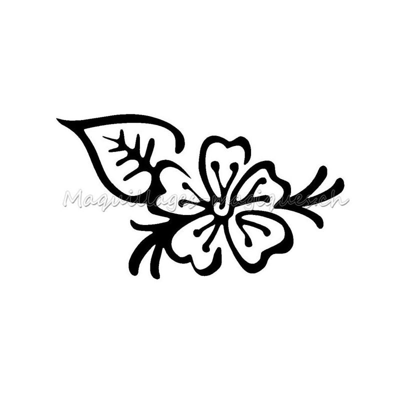 fleur henn pochoir tatouage temporaire ybody jagua 10010 maquillages magiques. Black Bedroom Furniture Sets. Home Design Ideas