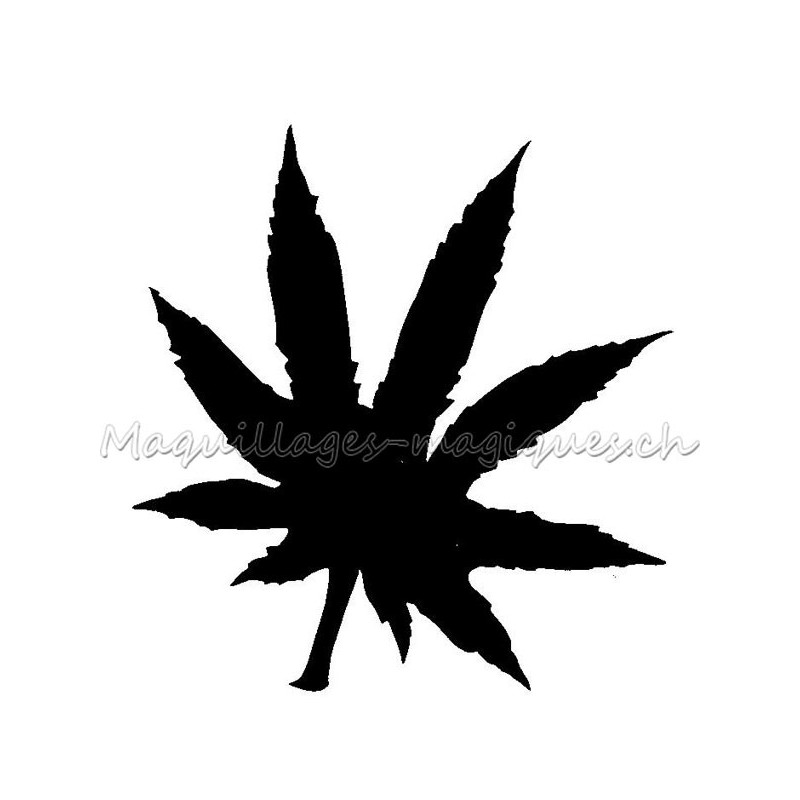 Cannabis Pochoir Tatouage Temporaire Ybody 58900 Maquillages Magiques