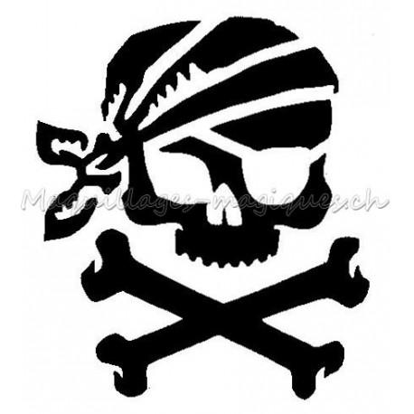 pirate pochoir tatouage temporaire squelette ybody 51102 maquillages magiques. Black Bedroom Furniture Sets. Home Design Ideas