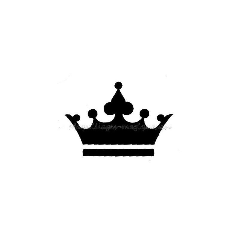 Couronne princesse pochoir tatouage temporaire prince - Dessin couronne princesse ...