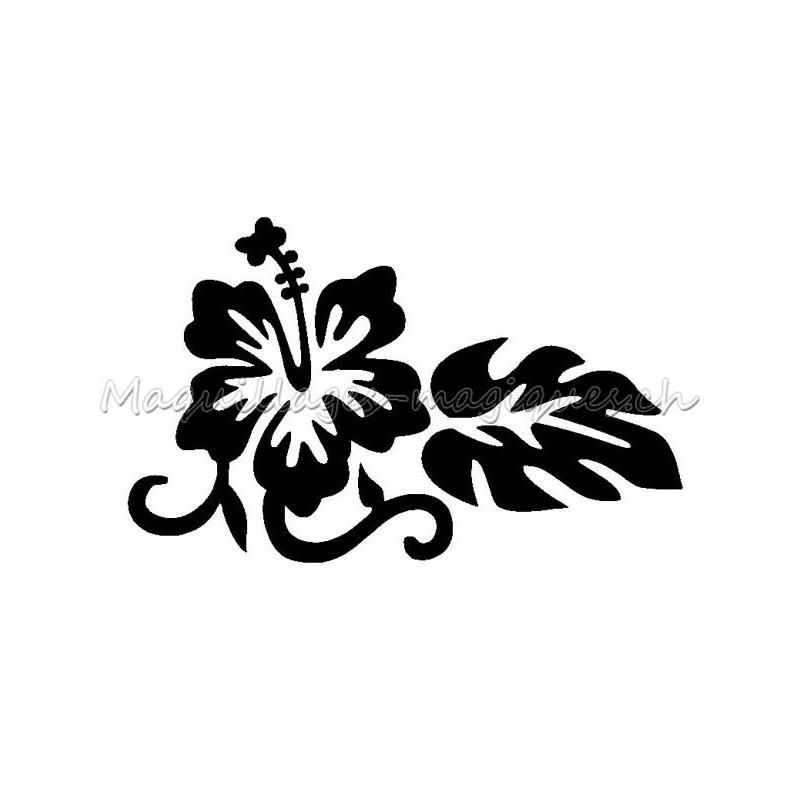Fleur D Hibiscus Pochoir Tatouage Temporaire Petite Ybody 2100ex