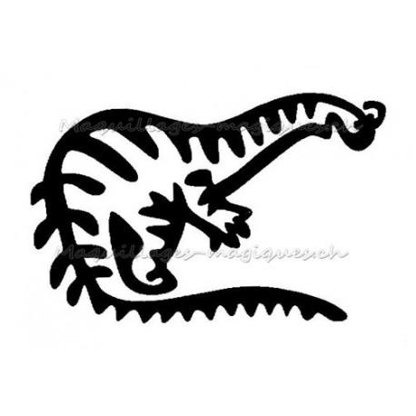 tatouage temporaire dinosaure