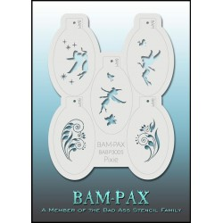 bad ass i stencils#bam-pax-3005#maquillages-magiques-Bam-Pax 3005 Pixie