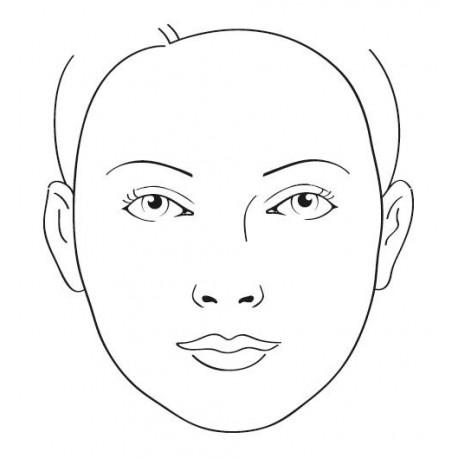 support d 39 entra nement face chart maquillage visage enfant. Black Bedroom Furniture Sets. Home Design Ideas