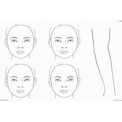 Planche d'entraînement A2 4 visages et bras
