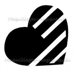 Coeur pochoir tatouage temporaire paillettes rayure Ybody