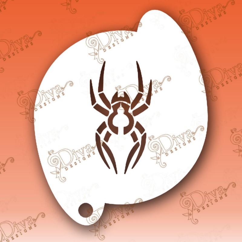 Pochoir araign e maquillage halloween diva stencils 370 maquillages magiques - Maquillage halloween araignee ...