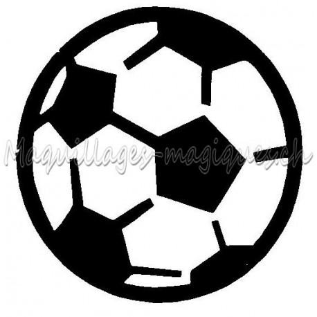 Ballon Foot Pochoir Tatouage Temporaire Football Ybody 48800