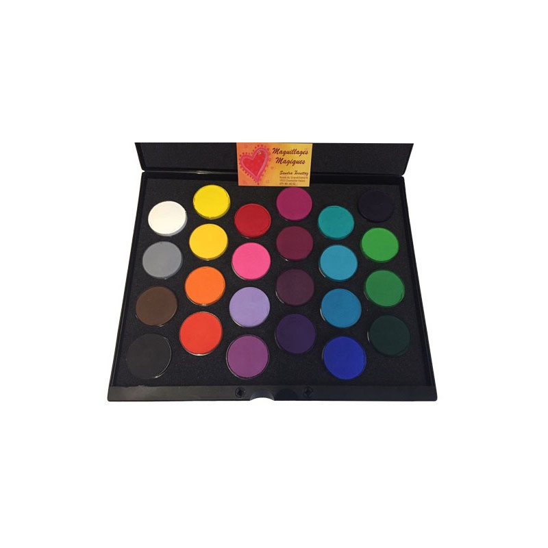 superstar palette maquillage mate 24 fards eau carnaval halloween maquillages magiques. Black Bedroom Furniture Sets. Home Design Ideas