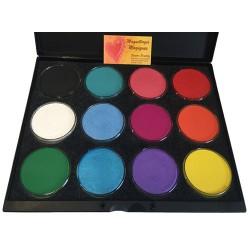Global Palette 12 Couleurs de 32g palette-maquillage-12-couleurs aqua-face-bodypainting-