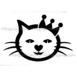 Tatouage temporaire chat couronne maquillages magiques