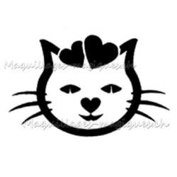 Tatouage temporaire chat coeur maquillages magiques