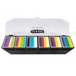 Palette peinture One Stroke PUNCH Global Colours maquillages magiques