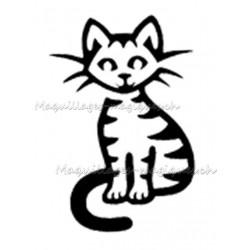 Tatouage temporaire pochoir chat tigré maquillages magiques
