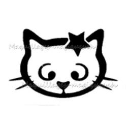 Tatouage temporaire, tatouage éphémère chat étoile 037
