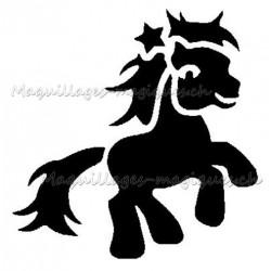 """Tatouage temporaire - tatouage éphémère """"my little pony"""" étoile 174"""