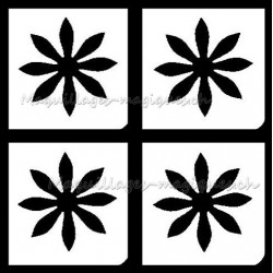 Tatouage temporaire - Tatouage éphémère - fleur 233