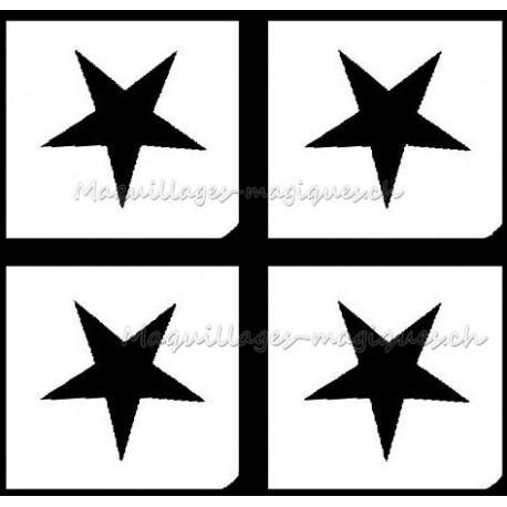 Tatouage temporaire - Tatouage éphémère - étoile - maquillages magiques
