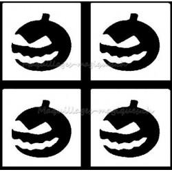 Tatouage temporaire - Tatouage éphémère - Halloween - citrouille - courge- maquillages magiques