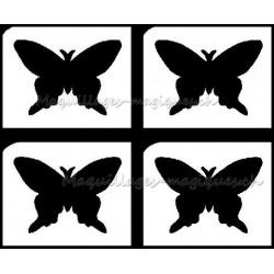 Tatouage temporaire - Tatouage éphémère - papillon - pochoir tatouage