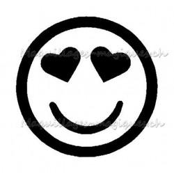 Tatouage temporaire - Tatouage éphémère - smiley coeur