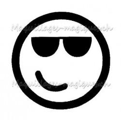 Tatouage temporaire - Tatouage éphémère - smiley emoji lunette