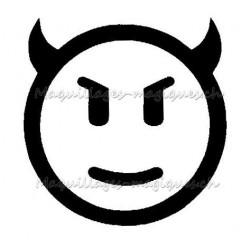 Tatouage temporaire - Tatouage éphémère - smiley emoji diable 334