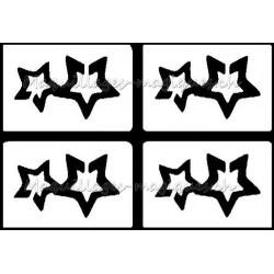 Tatouage temporaire - tatouage éphémère - étoile -maquillages magiques