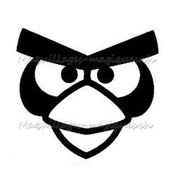 Tatouage temporaire - tatouage éphémère Angry Birds Red
