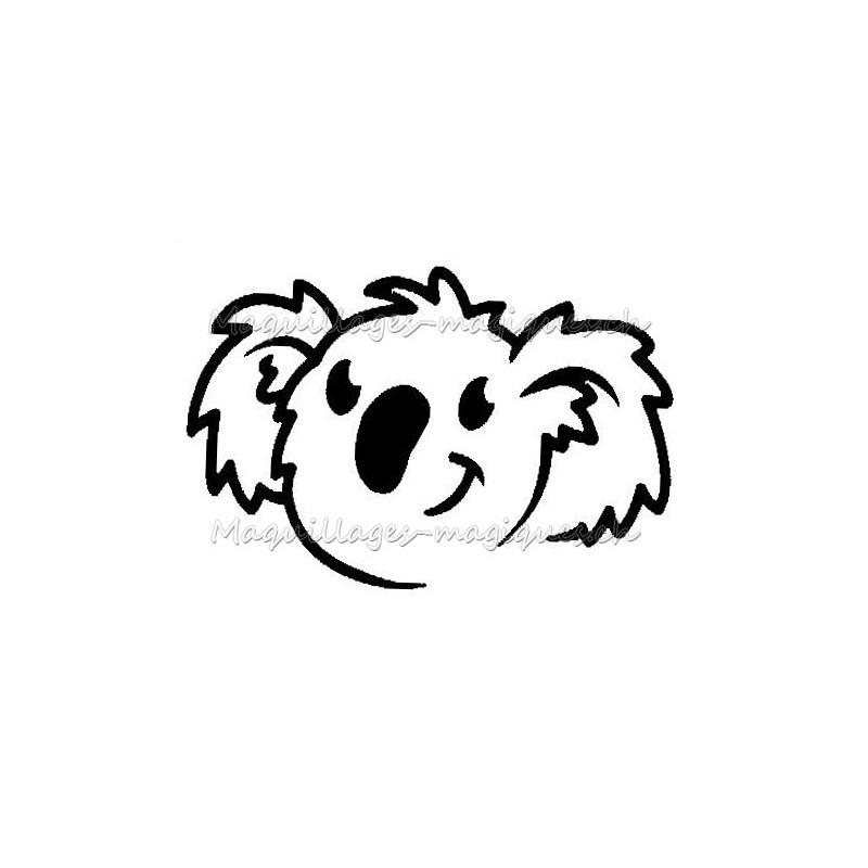 koala pochoir tatouage pour enfant pas cher jeux maquillages magiques. Black Bedroom Furniture Sets. Home Design Ideas