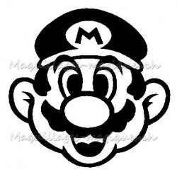 Tatouage temporaire - tatouage éphémère Super Mario Bros Nintendo