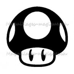 Tatouage temporaire - tatouage éphémère Super Champignon Mario bros