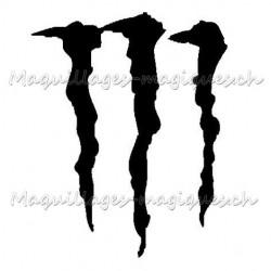 Tatouage temporaire - tatouage éphémère Monster Energy