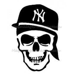 Tatouage temporaire - tatouage éphémère Tête de mort casquette