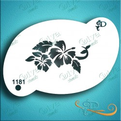 Diva Stencils hibiscus flower 1181 maquillages magiques