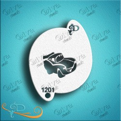 Diva stencils lightning car 01201 maquillages magiques