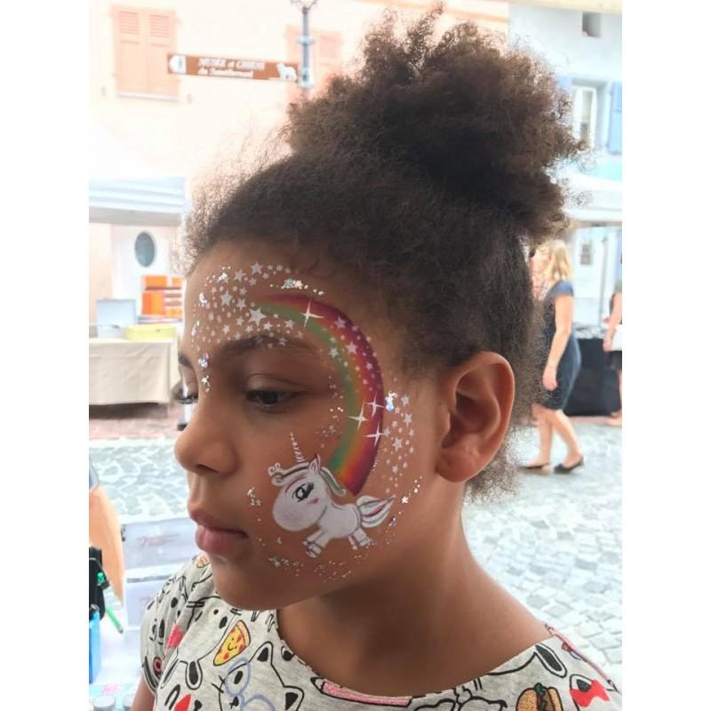 diva stencils unicorn baby 00567 maquillages magiques