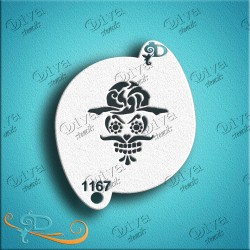 diva stencils day of the dead sugar skull 01167 maquillages magiques
