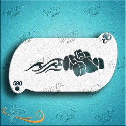diva stencils race car band 590 maquillages magiques