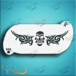 diva stencils forehead skull band 550 maquillages magiques