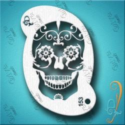 Diva stencils sugar skull 153 pochoir tete de mort  maquillages magiques