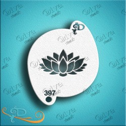 Diva stencils lotus flower 397 pochoir fleur lotus maquillages magiques