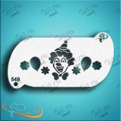 Diva stencils clown band 549 pochoir maquillage clown maquillages magiques