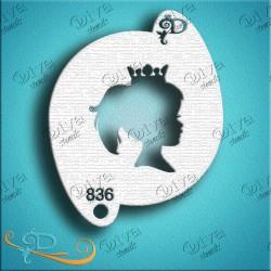 Diva stencils princess profile pochoir maquillage aérographe