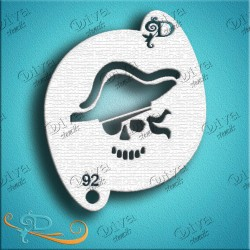 Diva stencils pirate with hat pochoir pirate maquillage aerographe maquillages magiques